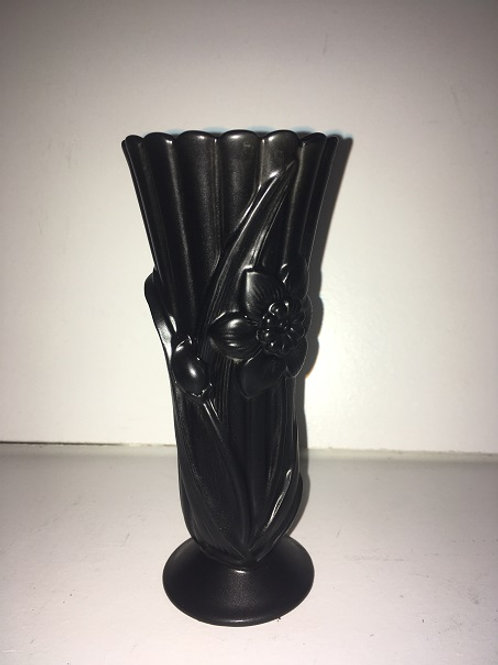flowers with leaves vase