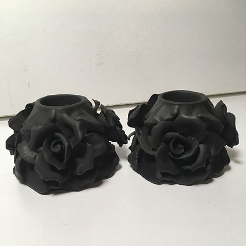 rose candle holder