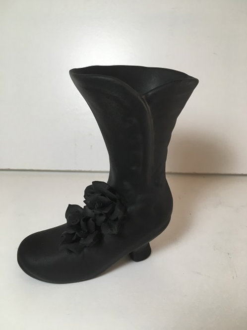 boot with rose candle holder