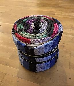 """""""SITzgelegenheit (bzw. SITziale Plastik)"""", carpet chair (acrylic), 40x40x50cm, 2020,"""