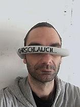 """""""ohrschlauch"""", acrylic on pvc, 2019"""