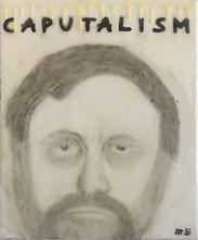 """Zizek"", glue/oil on canvas, 60x50cm, 2020"
