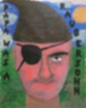 """papa was a räubersohn"", mixed on paper, 105x75cm, 2019"