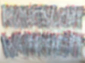 """""""KunstsuchtWahrheit"""", 140x200, spray on canvas, 2017"""