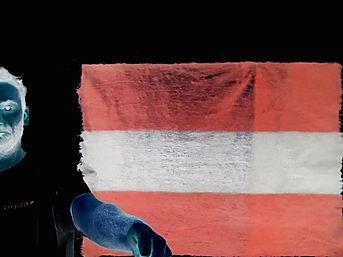 """""""österreich negativ"""", oil on canvas, 140x100cm, 2018"""