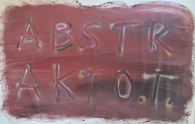 """abstrakto.t."", oil/spray on canvas, 200x130cm, 2018"