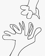 """my hands"", graphic, 2019"
