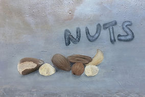 """nuts"", mixed on canvas, 50x72cm, 2020"