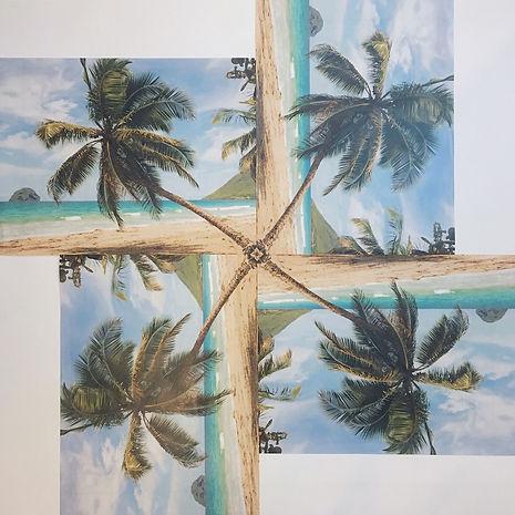 """heimaturlaub"", collage, 140x140cm, 2019"