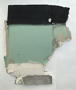 """baustellendieb"", oil on construction plate, 70x60x4cm, 2016"