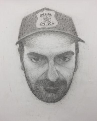 """""""self portrait"""", Pencil on Paper, 120x150cm, 2018"""