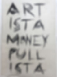 """artista money pullista"", oil on canvas, 70x55cm, 2019"