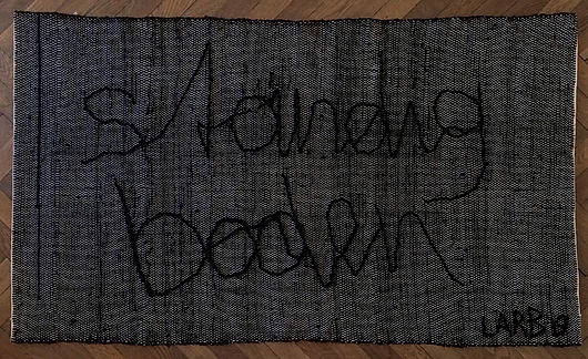 """ständig boden (co-work with Lea Abendstein)"", 82x140cm, cotton, 2019"