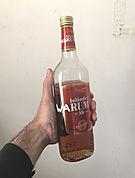 """""""inländer warum"""", acrylic marker on bottle, 10x25cm, 2016"""