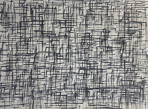"""Viele Hakenkreuze (HK 2)"", acrylic on canvas, 110x150cm, 2019"