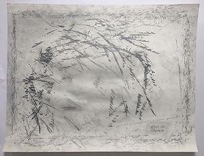 """""""jesus im rahmen"""", pencil on paper, 50x65cm, 2017"""