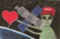 "🔴 ""sad elite of love"", acrylic/spray on canvas, 140x200cm, 2018"