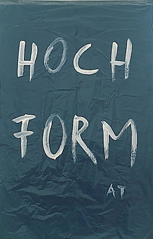 """hochformat"", acrylic on trash bag, 105x69cm, 2019"