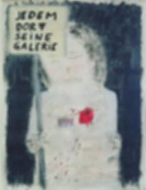 """""""jedem dorf seine galerie"""", 150x100cm, mixed on canvas, 2018"""