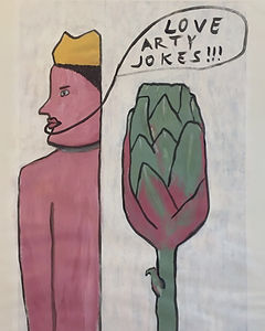 """Love Artichokes"", acrylic on paper, 80x60cm, 2019"