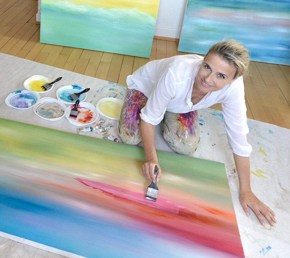 Catherine Mesot Channel-Medium malen Energie Bilder und Seelenbilder