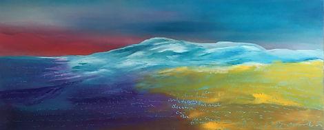 Energiebild Landschaft energy painting landscape