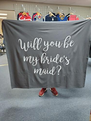 Bridesmaid Gift Blanket