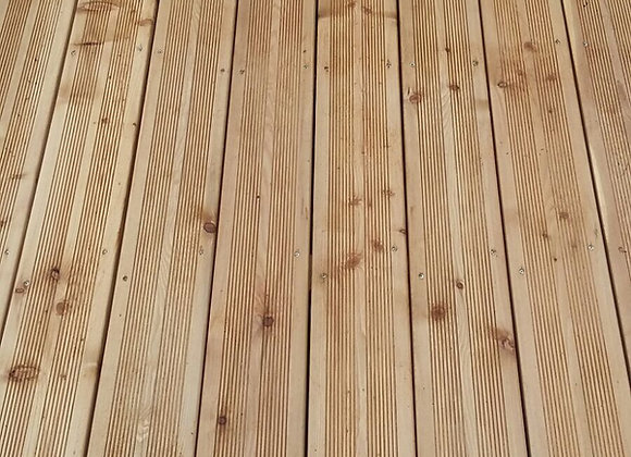 Siberian Larch Untreated Decking 145mm x 30mm