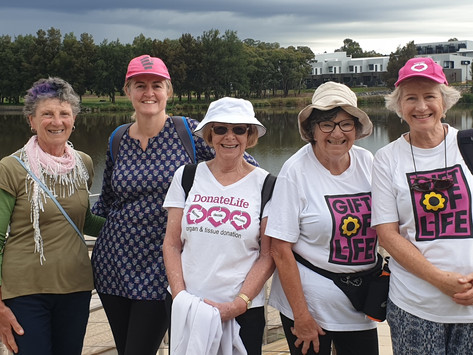 Gina's Team walked around Lake Tuggeranong on Thursday 25 February and had a great time