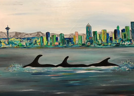 Orcas in Seattle
