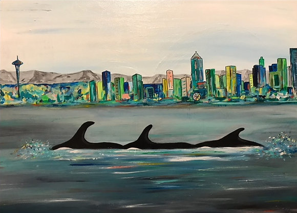 Orcas in Seattle