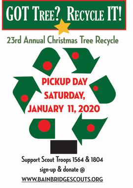 Scout Tree RecycleSandwich Board