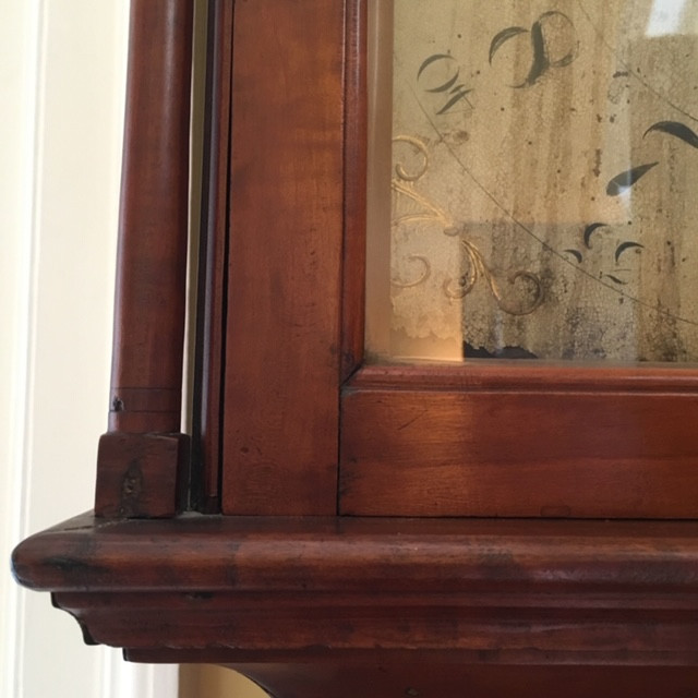 A clock in the Woodlawn mansion made by an enslaved person (name unknown)