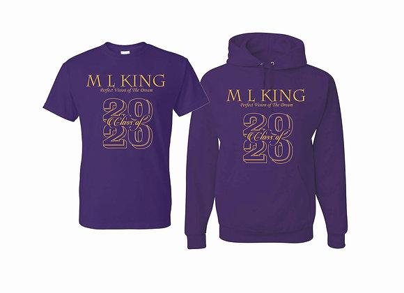 "Class of 2020 Hoodie & ""T"" Shirt"