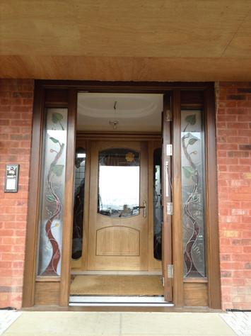 Oak Porch Door & Casing