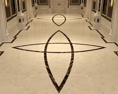 Chris Fell Design Hallway Marble Floor 3