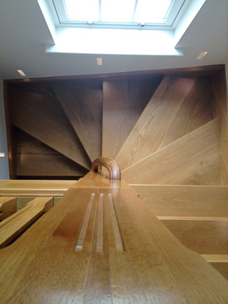 Oak handrail