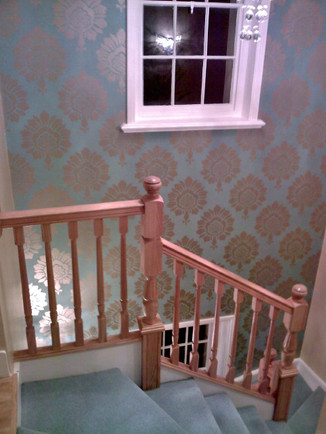 Oak staircase overlay in Regents park (