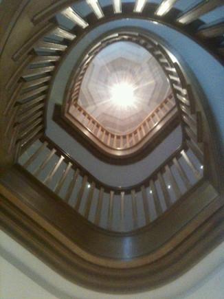 Oak Elliptical Staircase