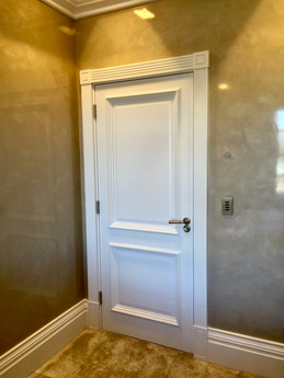 Door & Casing with polished plaster walls