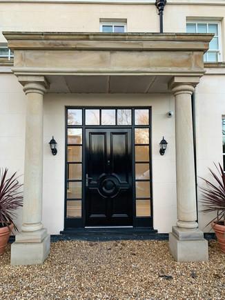 Stone Portico & Entrance Door