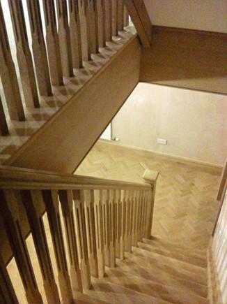 Oak staircase and oak flooring