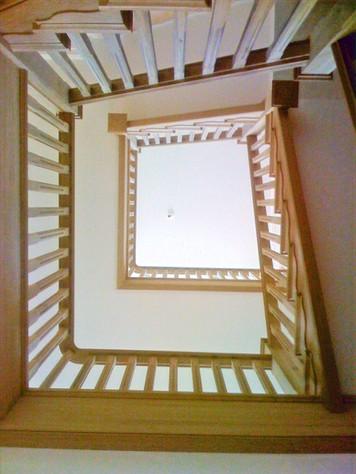 Oak cut string staircase