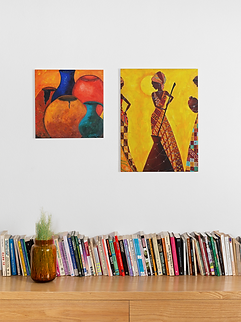 mockup-of-a-square-canvas-print-and-a-ve