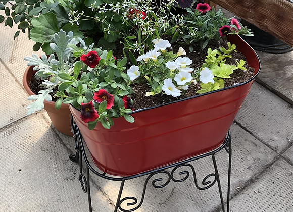 Square Red Planter Stand PL0043