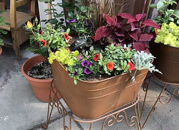 Rusty Square Planter Stand PL0046