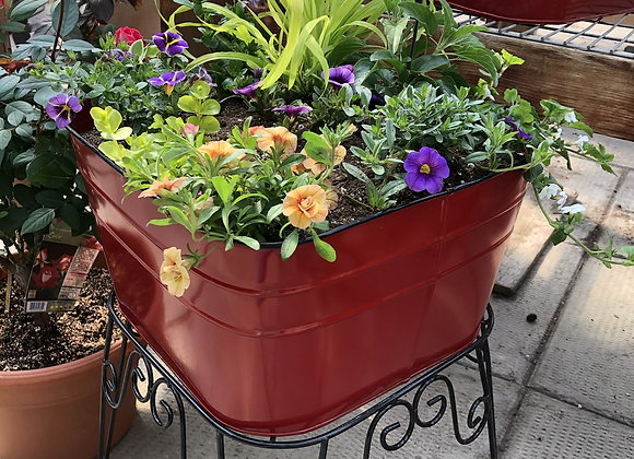 Square Red Planter Stand PL0042