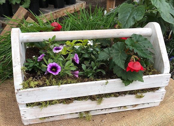 White Gardening Tool Box PL0107