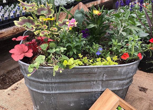 Square Washtub planter PL0065