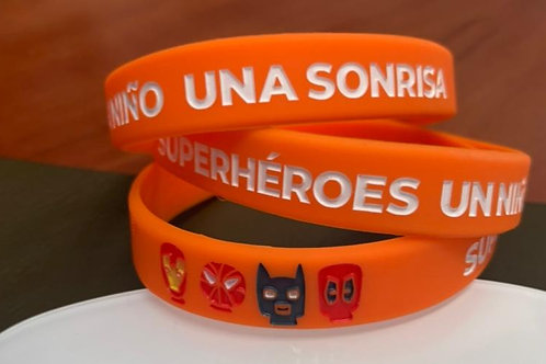 Pulsera Superhéroes Naranja